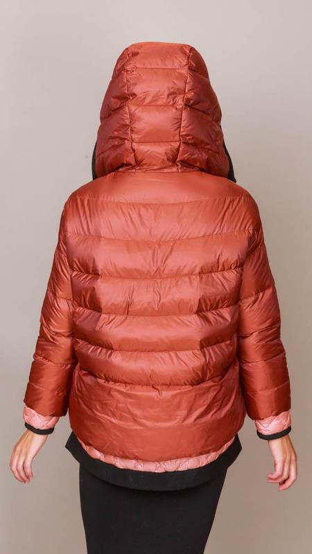Psophia Pullover Puffer Jacket - Cognac/Peach