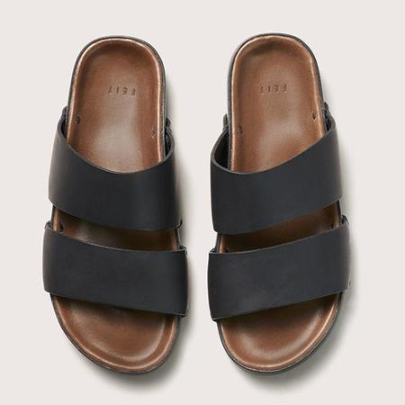 Unisex FEIT Leather Sandal - Black