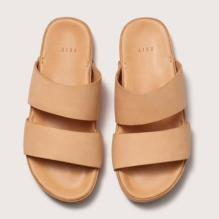 Unisex FEIT Leather Sandal - Natural
