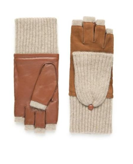 Carolina Amato Cashmere Pop Top Glove