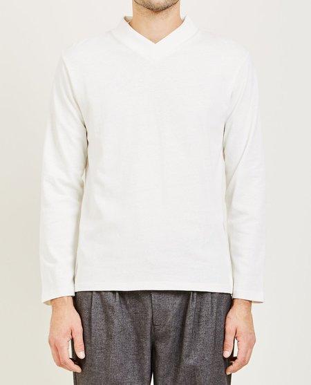mfpen Long Sleeve V Tee - Off White