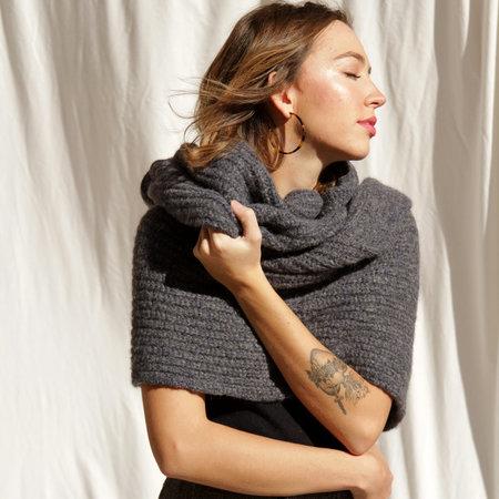 Aymara Ellen Scarf - Anthracite/Indigo