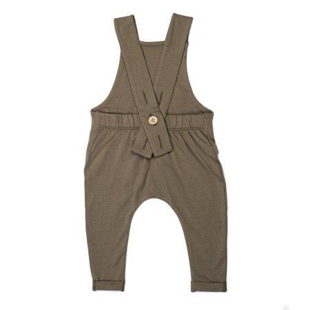 Kid Wild Organic Suspender Pants - Bark