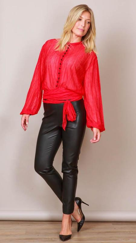 Philosophy Di Lorenzo Blouse With Buttons - RED/BLACK