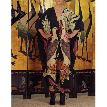 Carolina K Sarita Jumpsuit - Black Eagles Print