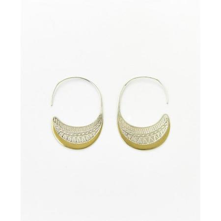 Ombre Claire Ecume Hoop Earrings