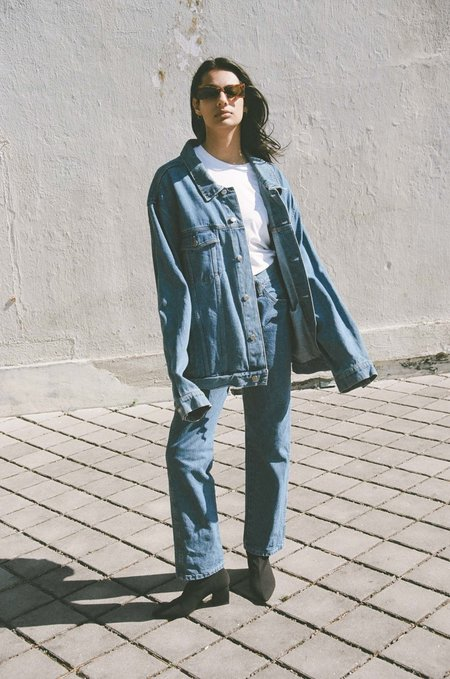 Either, And Vintage Wranglers Very Oversized Denim Jacket