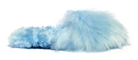 Ariana Bohling Suri Alpaca Slipper - Mint Blue