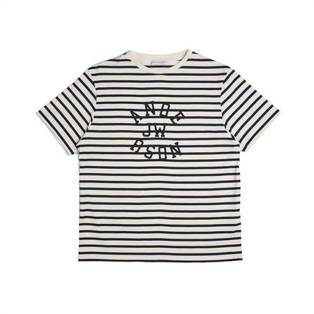JW ANDERSON Multi Stripe Logo T-shirt - White/Black