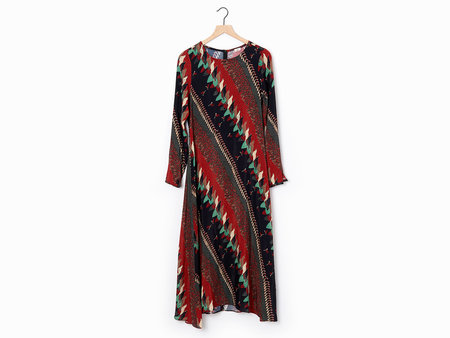 Warm Snowbird Dress - Burgundy/Multi