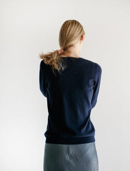 Organic by John Patrick Slim Cashmere T-Shirt - Navy