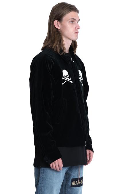Mastermind World Silk Velvet Embroidered Jacket - Black