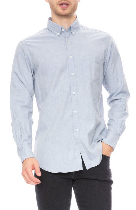 Today is Beautiful / Ron Herman Chambray Flannel Shirt - Light Blue