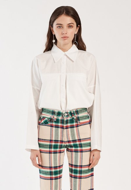 Winsome Nina Collar Top - Off-White
