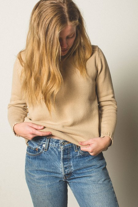 Preservation Vintage Knit Sweater - Oatmeal