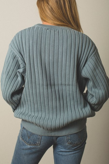 Preservation Vintage Knit Sweater - Pastel Blue