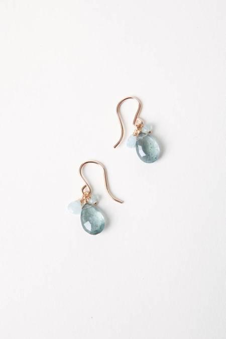 Leah Alexandra Isabel Earrings - Gold Filled/Labradorite