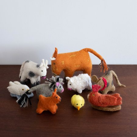 Kids Shop Merci Milo Wool Felt: Farm Animals Set