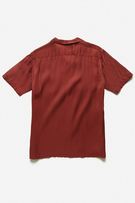 House of St. Clair Cuba Rayon Shirt - Burgundy