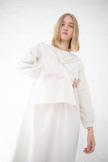 Cosmic Wonder Twisted Dress with Scarves - Natural White