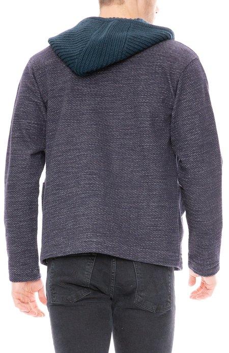 Tomorrowland Bias Fleece Knit Hood Jacket - Navy
