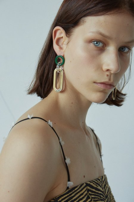 Rachel Comey Sour Earrings - Malachite