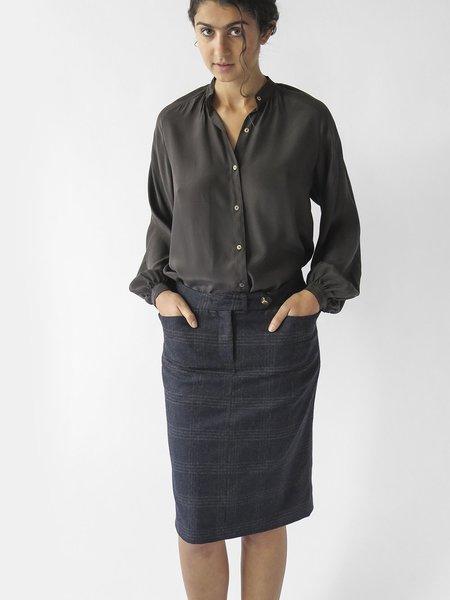 Erica Tanov ezra skirt - plaid tartan