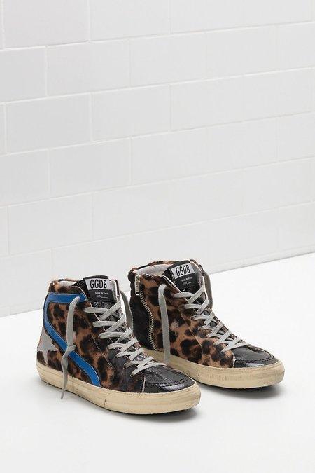Golden Goose Slide Sneakers - Leopard