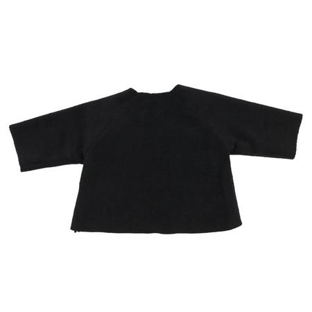 KIDS Makié Baby Fleece Kimono Jacket - Black