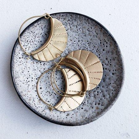 Meus Half Moon Earrings - Brass