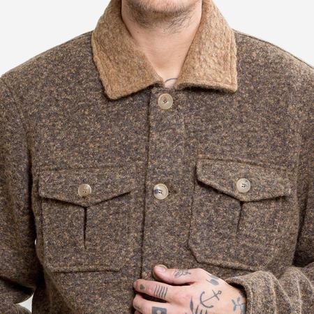 Kestin Hare Field Putty Wool Jacket - Olive
