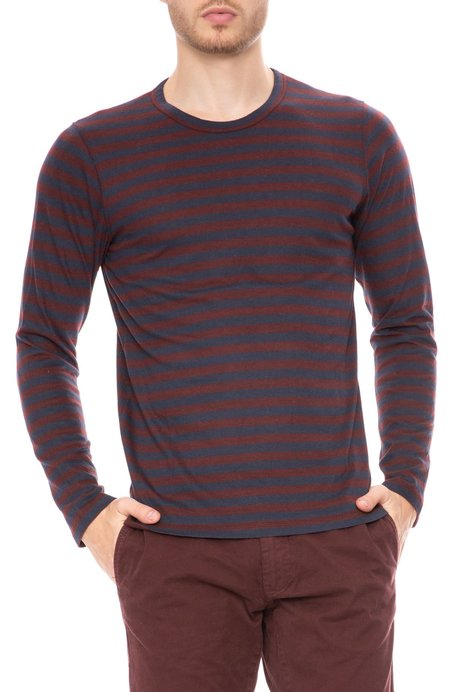 Closed Long Sleeve T-Shirt - Striped