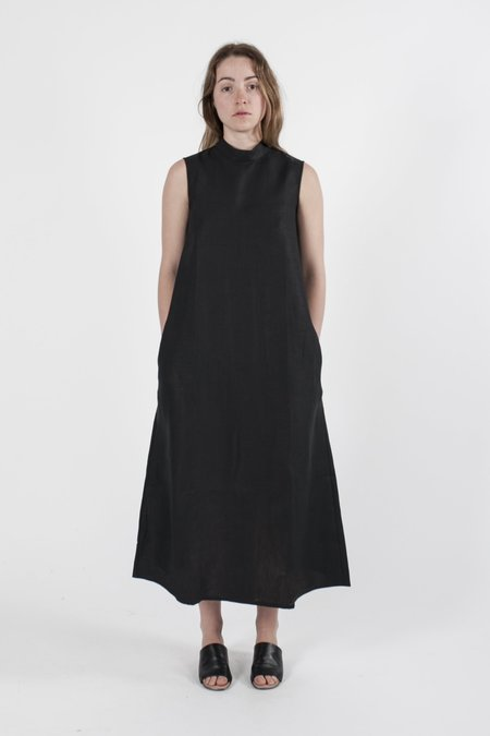 Good Studios Hemp Linen Sleeveless High Neck Dress - Black