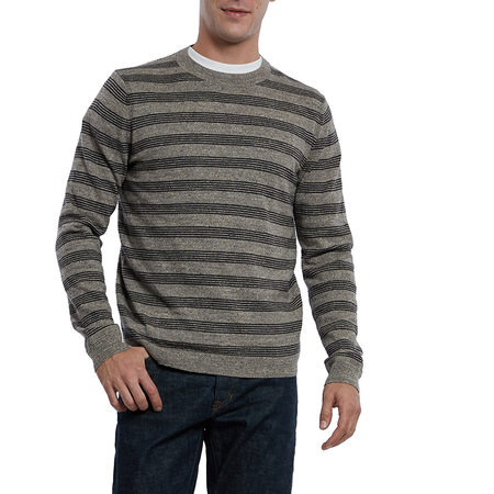 Grayers Worthington Crew - Charcoal Stripe