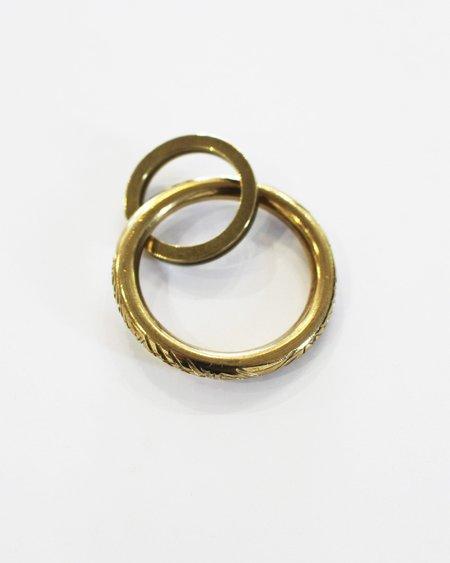 Fortune Goods Carved Montagnard Key Ring - Brass