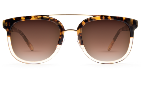 KREWE du optic Krewe CL-10 - Blonde Tortoise/Champagne 24K
