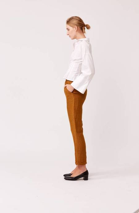Laura Siegel Silk Hemp Pants - Burnt Orange