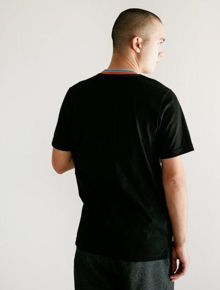 Marni T-Shirt Multi Stripe Collar - Black