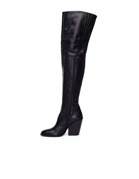 A.F.Vandevorst Leather Knee High Heeled Boots
