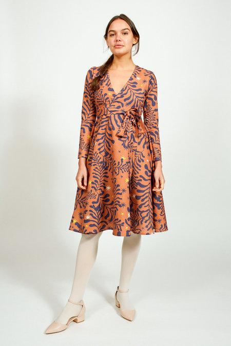 Apalma Maria Wrap Dress - TOBACCO