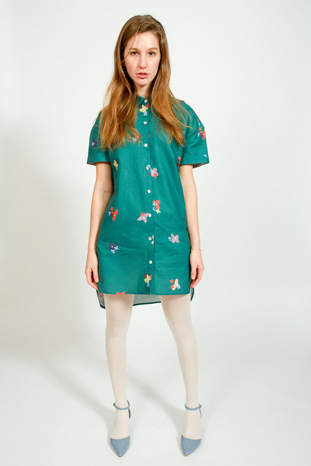 Apalma Cata Shirt Dress - GREEN