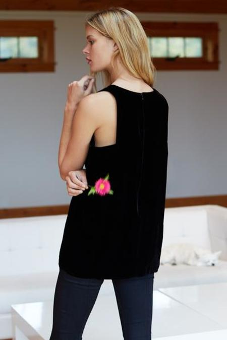 EMERSON FRY Velvet Mod Top - BLACK