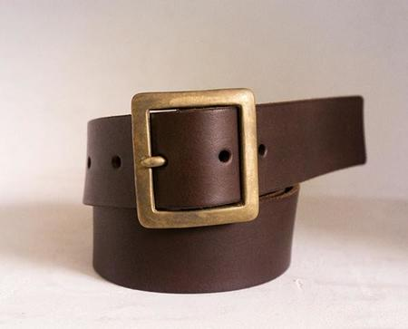 Stanley & Sons Leather Belt - BROWN