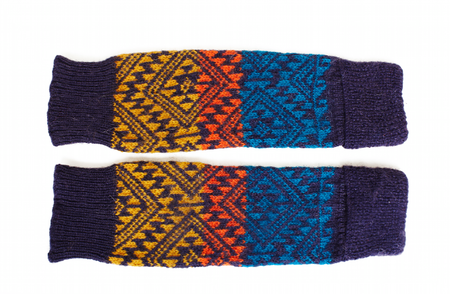 KIDS Cabbages & Kings Leg Warmers - Aztec Purple Multi
