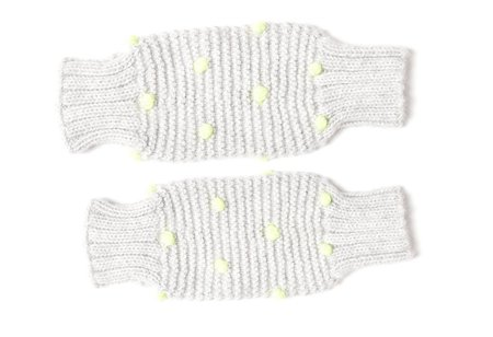KIDS Cabbages & Kings Leg Warmers - Light Grey Neon