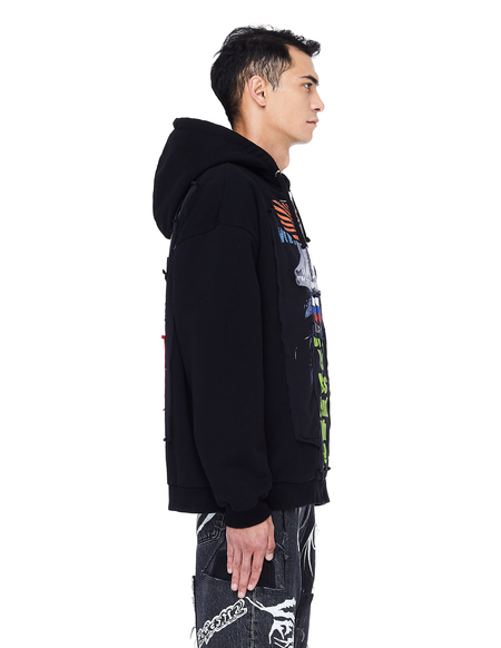 Vetements Russia Printed Zip Up Hoodie