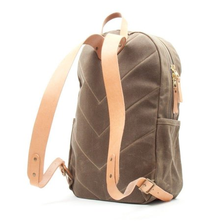 Winter Session Waxed Canvas Backpack - KHAKI/NATURAL