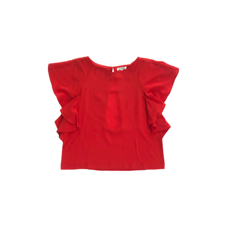 Ali Golden RUFFLE TOP - RED