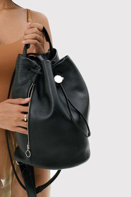 KARA Drawcord Backpack - Black