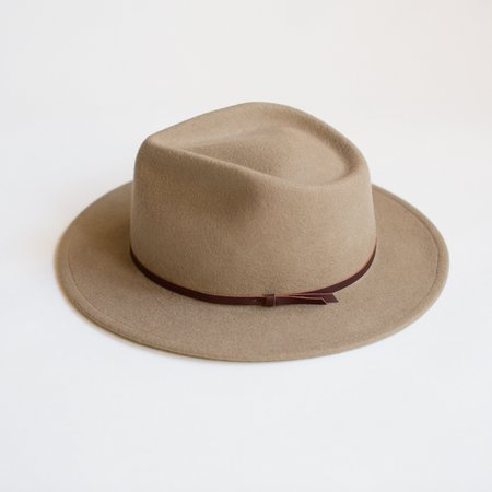 Unisex Yellow 108 Eastwood Fedora - Putty